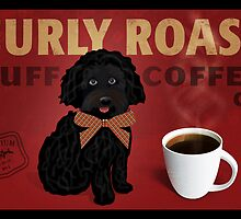 Curly Roast Retro Dog Art by wrayco