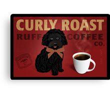 Curly Roast Retro Dog Art Canvas Print