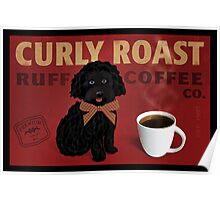 Curly Roast Retro Dog Art Poster