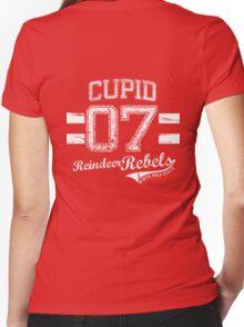 Cupid Reindeer Rebel Women's Fitted V-Neck T-Shirt