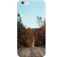 Northern Ontario country lane iPhone Case/Skin