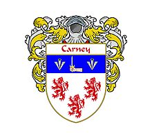 Carney Coat of Arms/Family Crest Photographic Print