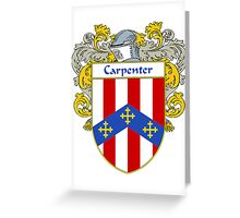 Carpenter Coat of Arms/Family Crest Greeting Card