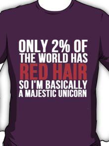 RED HAIR MAJESTIC UNICORN T-Shirt