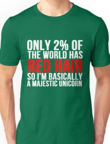 RED HAIR MAJESTIC UNICORN Unisex T-Shirt