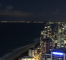 Surfers Paradise at night by Mark Fitzpatrick