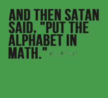 Satan Alphabet in Math by Al Craker