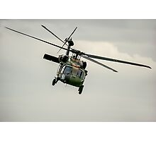 Black Hawk Swoops Photographic Print