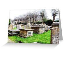 Burford Church graveyard Greeting Card