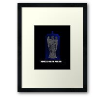 The Angel and the Blue Box Framed Print