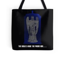 The Angel and the Blue Box Tote Bag