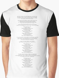 """Lyrics - """"Jackie And Wilson"""" by Hozier Graphic T-Shirt"""