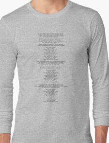 "Lyrics - ""Jackie And Wilson"" by Hozier Long Sleeve T-Shirt"