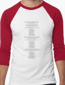 "Lyrics - ""Jackie And Wilson"" by Hozier Men's Baseball ¾ T-Shirt"