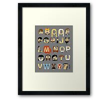 GoT Alphabet Framed Print