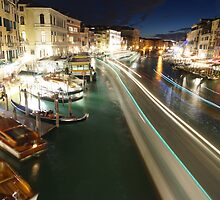 Venice: Rialto Bridge long shutter by WilsonLowe