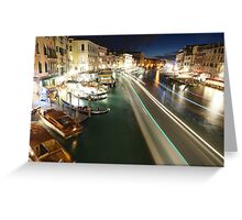 Venice: Rialto Bridge long shutter Greeting Card