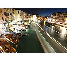Venice: Rialto Bridge long shutter Photographic Print