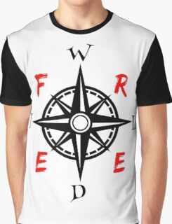 Wild And Free Compass Graphic T-Shirt