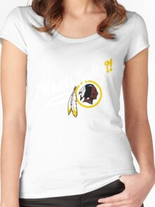 Whats gully? (REDSKINS)  Women's Fitted Scoop T-Shirt