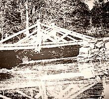 Photo of a Photo of the Original Headless Horseman Bridge, Sleepy Hollow, NY by Jane Neill-Hancock
