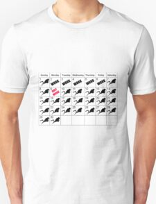 DIVING CALENDER QUIT WORK DIVE FOREVER  T-Shirt