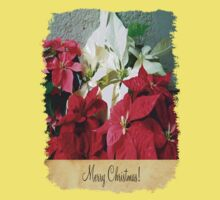 Mixed color Poinsettias 3 Merry Christmas S2F1 Kids Tee