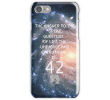 The Great Answer Is... iPhone Case/Skin