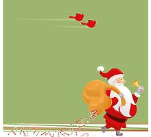 Santa and small red birds by rusanovska