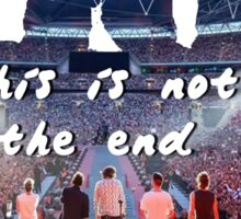 This is not the end  Sticker
