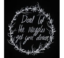 Dont let the Muggles get you down Photographic Print