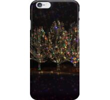 Christmas Trees At Night iPhone Case/Skin