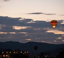 Hot Air Balloon at Sunrise by donberry