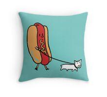 Double dog Throw Pillow