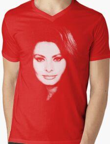 belle sofia Mens V-Neck T-Shirt