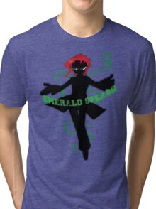 Emerald Splash Tri-blend T-Shirt