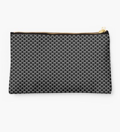 Chainmaille on Black Background Studio Pouch