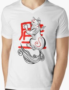 Kabegami Mens V-Neck T-Shirt