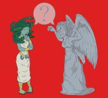 Medusa VS Angel Baby Tee