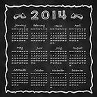 Year 2014 Blackboard Calendar by scottorz