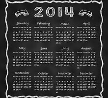 Year 2014 Blackboard Calendar by scottorz