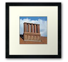 Chimneys for Santa Claus Framed Print