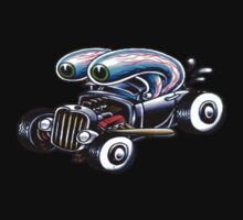 Eyeball Hot Rod Tattoo Flash by apocalypsebob