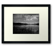 The Mighty Clarence in b&w Framed Print