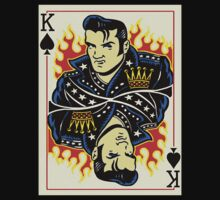Elvis King of Spades Card by apocalypsebob