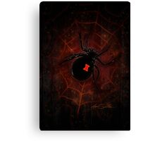 Black Widow (Signature Design) Canvas Print