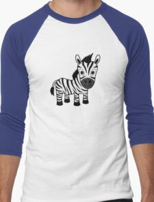My Day at the Zoo - Zebra Men's Baseball ¾ T-Shirt