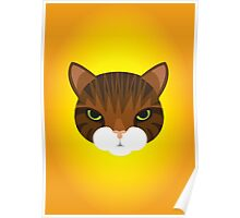 Mean Tabby Cat Poster