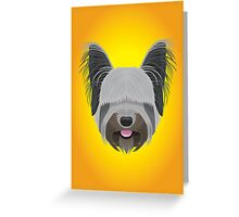 Skye Terrier Greeting Card