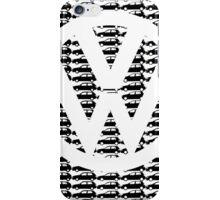 VW Golf White Logo with Black Golf Mk1-Mk7 iPhone Case/Skin